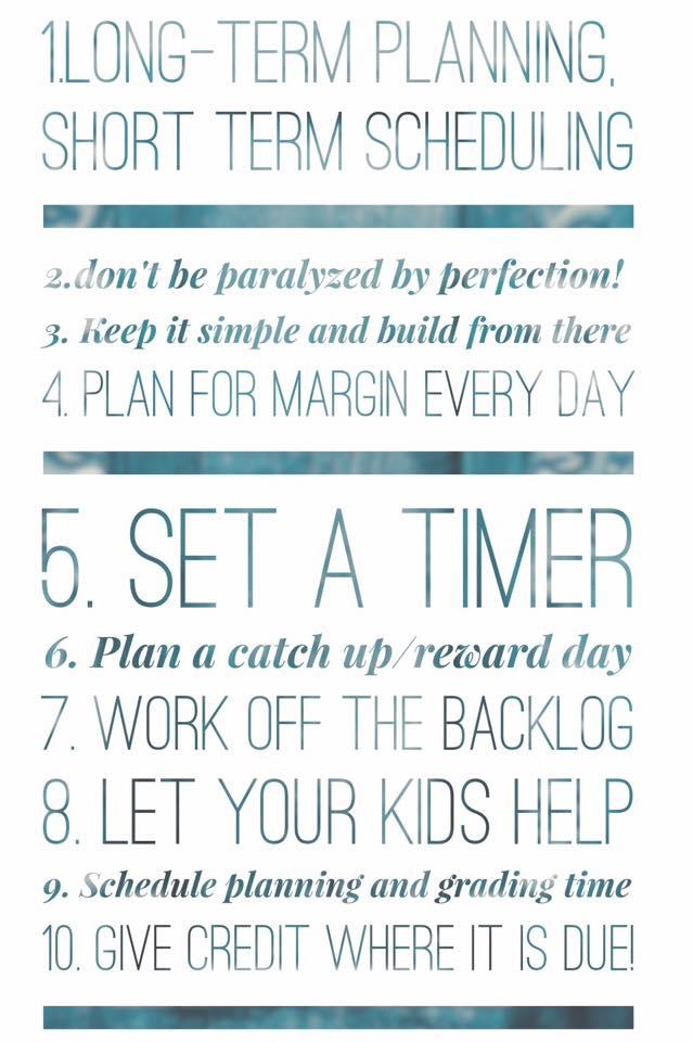 10 Planning Tips For Happier Homeschooling