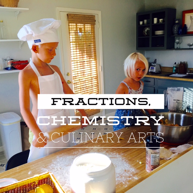 Homeschooling, fractions, chemistry food