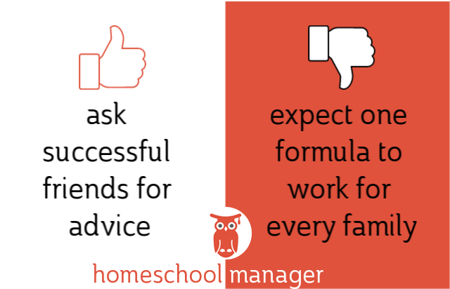 Homeschool dos & donts ask for help