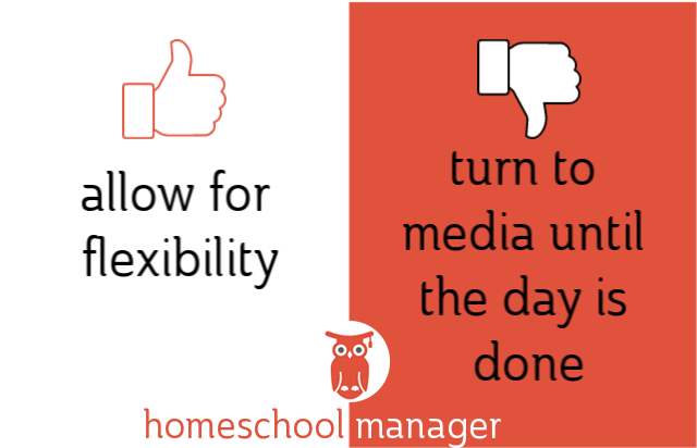 Homeschool dos & donts manage media
